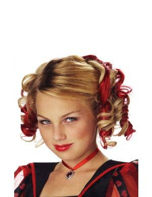 Curly Red Clip In Girl's Hair Extensions Costume Accessory