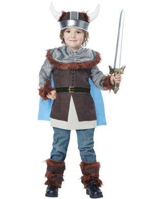 Toddler Boys Valiant Viking Fancy Dress Book Week Costume Front View