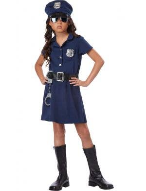 Police Officer Girl's Fancy Dress Costume
