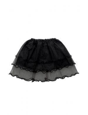 Layered Mesh Girl's Black Frilled Costume Tutu