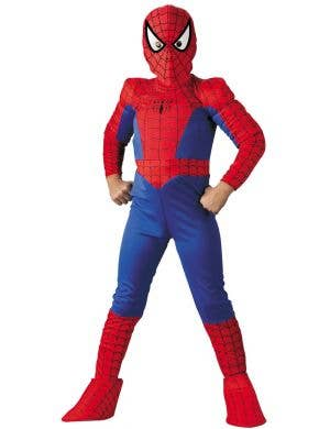 Spiderman Deluxe Marvel Boy's Muscle Chest Costume
