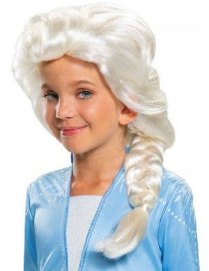 Platinum Blonde Elsa Frozen 2 Girls Costume Wig
