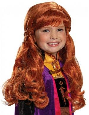 Auburn Red Anna Frozen 2 Girls Costume Wig