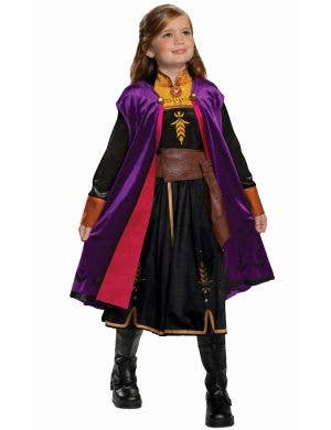 Deluxe Anna Girls Frozen 2 Fancy Dress Costume