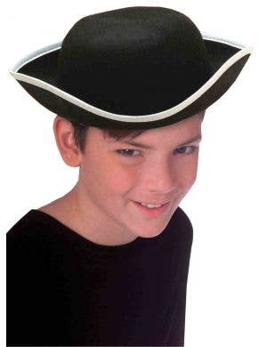 Colonial Tricorn White Trimmed Kids Hat Accessory