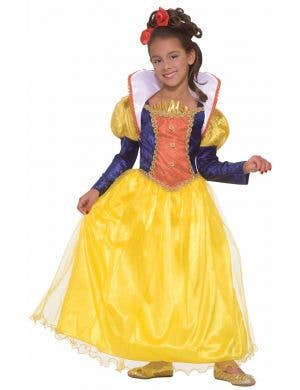 Golden Dream Princess Girl's Snow White Book Week Costume Front View