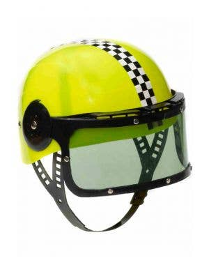 Racing Helmet Kid's Yellow Costume Accessory