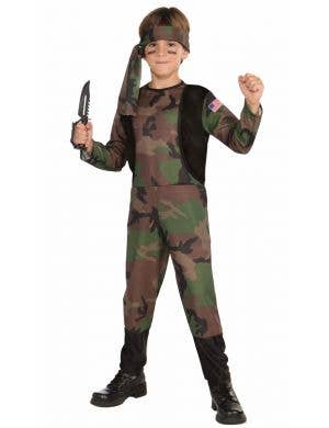 Camo Army Soldier Boys Budget Book Week Costume