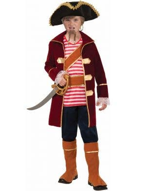 Pirate Captain Boys Fancy Dress Costume