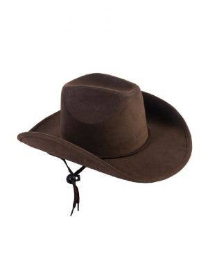 Howdy Cowboy Brown Suede Kids Hat Costume Accessory