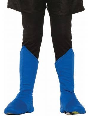 Superhero Kids Blue Boot Covers Costume Accessory