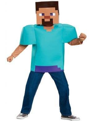 Minecraft Steve Boys Fancy Dress Costume