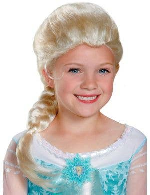 Elsa Girl's Officially Licensed Frozen Blonde Costume Wig