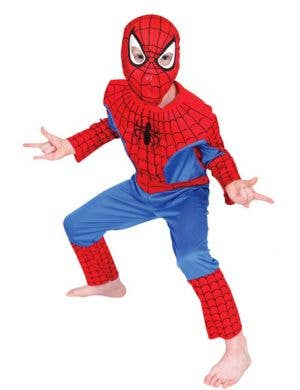 Boy's Spiderman Superhero Costume Front View