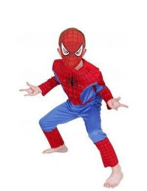 Web Spinner Spiderman Boys Marvel Superhero Costume Main Image