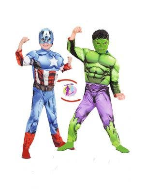 Reversible Hulk and Captain America Costume for kids Main Image