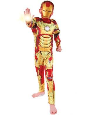 Boy's Iron Man Marvel Superhero Costume Front View