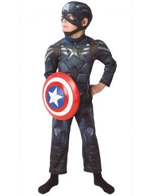 Winter Soldier Boys Captain America Avengers Costume Front View