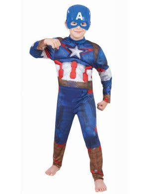 Avengers Age Of Ultron Boys Fancy Dress Captain America Costume