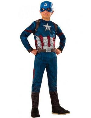 Captain America Civil War Costume for Boys Main Image