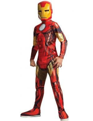 Classic Iron Man Marvel Avengers Costume for Boys main image