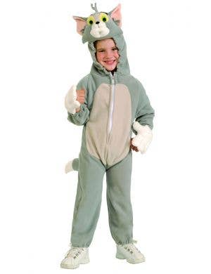 Tom & Jerry Boys Cat Onesie Costume Main Image