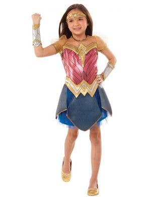 Dawn of Justice Wonder Woman Deluxe Girls Costume Main Image