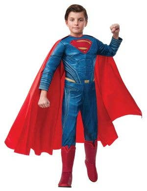 Deluxe Dawn of Justice Superman Costume For Boys Main Image