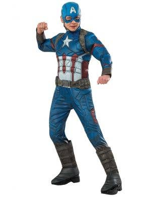 Deluxe Boys Captain America Avengers Muscle Chest Costume Main Image