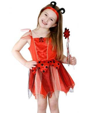 Red and Black Girls Cute Lady Beetle Book Week Costume