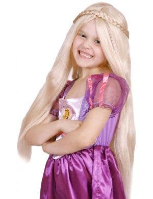 Disney Princess Girl's Long Blonde Rapunzel Costume Wig