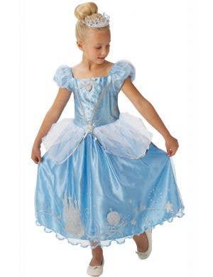 Shimmer Cinderella Girls Disney Princess Book Week Fancy Dress Costume