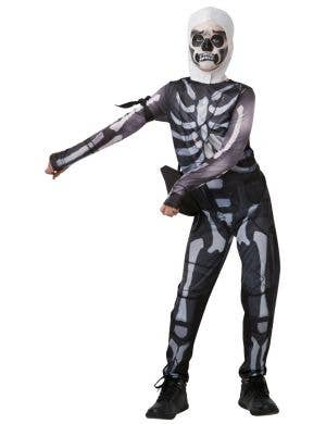 Fortnite Skull Trooper Video Game Tween Boys Fancy Dress Costume