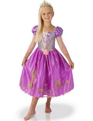 Shimmer Rapunzel Girls Disney Princess Book Week Fancy Dress Costume