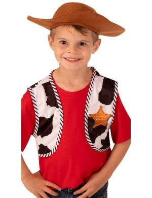 Toy Story 4 Woody Boy's Costume Accessory Vest and Hat Set
