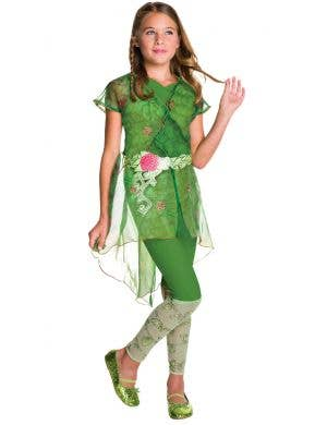 DC Super Hero Poison Ivy Girls Fancy Dress Costume