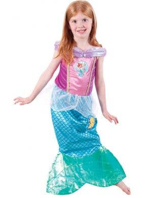 Ariel Girl's Disney Princess Mermaid Costume Front View