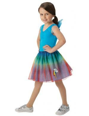 Rainbow Dash Girls My Little Pony Tutu Skirt and Wings Costume Set