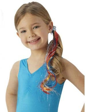 Rainbow dash girls my little pony rainbow hair extension clip