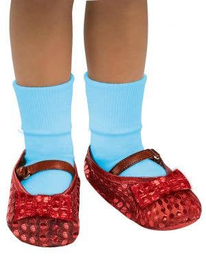 Officially Licensed Sequined Red Girl's Dorothy Shoe Covers