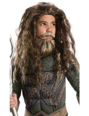 Aquaman Boys Beard and Wig Costume Accessory Set