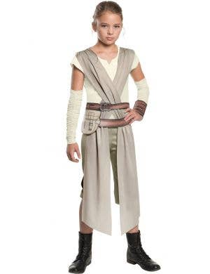 The Force Awakens Star Wars Girls Rey Fancy Dress Costume image