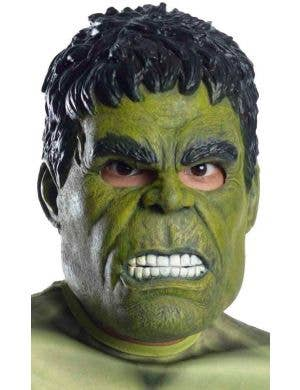 Dark Green 3/4 Boys Latex Hulk Mask Costume Accessory