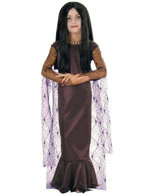 Morticia Addams Girls Halloween Costume