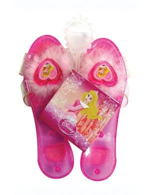 Girl's Disney Princess Sleeping Beauty pink fancy dress costume shoes