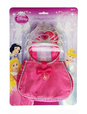 Sleeping beauty girls Disney Princess bag and tiara fancy dress costume accessory kit
