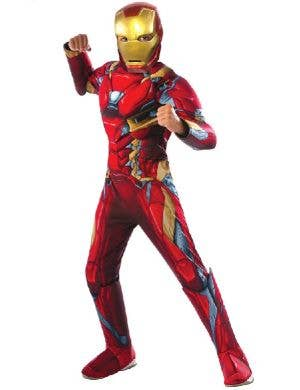 Marvel Boys Avengers Iron Man Superhero Costume Main Image