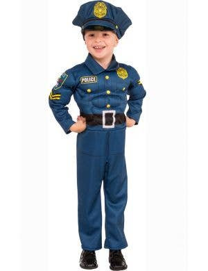 Boys Muscle Chest Police Officer Costume Main Image