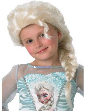 Frozen Elsa Girls Blonde Costume Wig