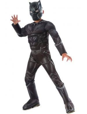 Captain America Civil War Black Panther Boys Fancy Dress Costume